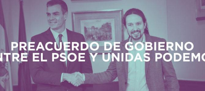 Preacuerdo de gobierno entre el PSOE y Unidas Podemos