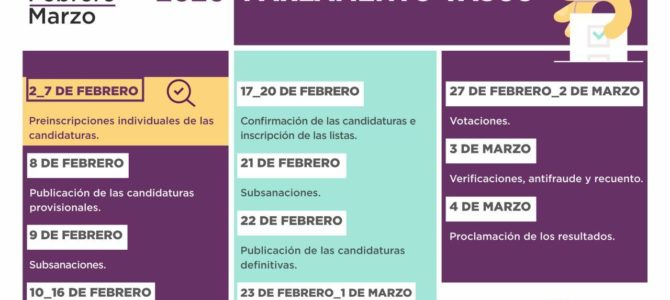 Calendario de primarias para el Parlamento Vasco