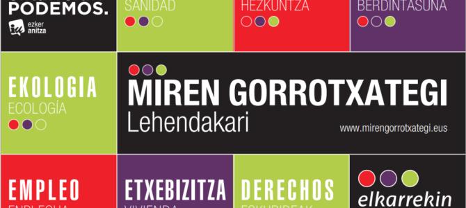 Conoce la página de nuestra candidata a lehendakari Miren Gorrotxategi