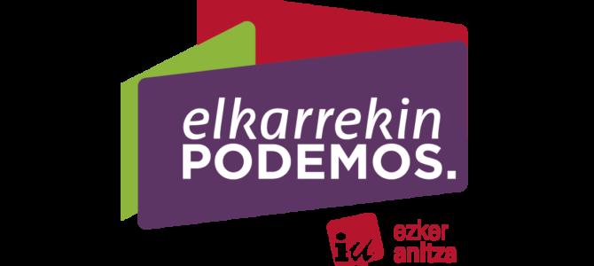 Comunicado de Elkarrekin Podemos-IU